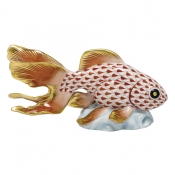 Herend Fantail Goldfish - Rust