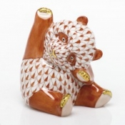 Herend Playful Panda Rust