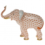 Herend Elephant Luck - Rust