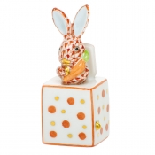 Herend Jack In The Box Bunny - Rust