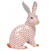 Herend Large Sitting Bunny - Rust