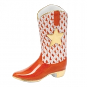 Herend Cowboy Boot - Rust