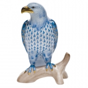 Herend Small Bald Eagle Blue
