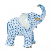 Herend Young Elephant Young Elephant - Blue