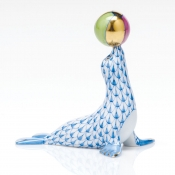 Herend Sea Lion With Ball - Blue
