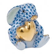 Herend Bunny w/ Heart Blue