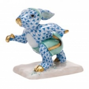 Herend Running Bunny Blue