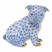 Herend Bulldog Puppy - Blue