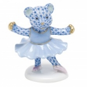 Herend Ballerina Bear Blue