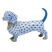 Herend Dachshund - Blue