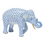 Herend Asian Elephant Blue