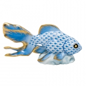 Herend Fantail Goldfish - Blue