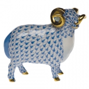 Herend English Ram - Blue