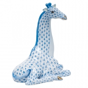 Herend Giraffe - Blue