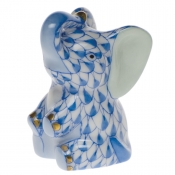 Herend Miniature Baby Elephant - Blue
