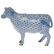 Herend Cow - Blue