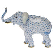 Herend Elephant Luck - Blue