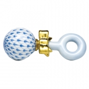 Herend Baby Rattle Blue