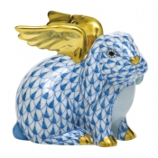 Herend Angel Bunny - Blue