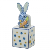 Herend Jack In The Box Bunny - Blue