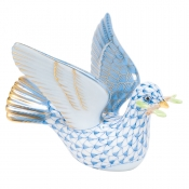 Herend Peace Dove with Branch - Blue
