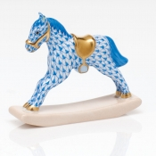 Herend Rocking Horse  - Blue