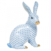 Herend Bunny Large Sitting Bunny - Blue