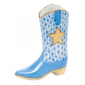 Herend Cowboy Boot - Blue