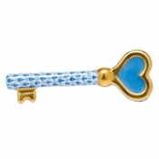 Herend Key To My Heart - Blue
