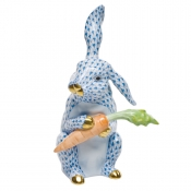 Large Bunny with Carrot Blue