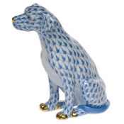 Seated Dog Blue