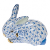 Small Scratching Bunny Blue