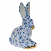 Miniature Sitting Rabbit Blue