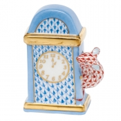 Hickory Dickory Dock - Blue & Rust