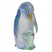 Penguin w/Baby Blue + Green