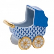 Herend Baby Carriage Sapphire