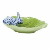 Herend Bunny on Cabbage Leaf Sapphire