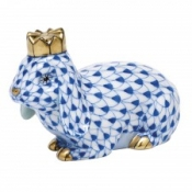 Herend Royal Bunny Sapphire