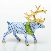 Herend Holiday Reindeer - Sapphire