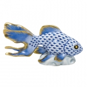 Herend Fantail Goldfish - Sapphire