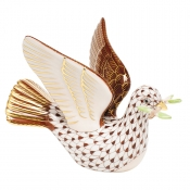 Herend Peace Dove with Branch - Chocolate