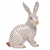 Herend Large Sitting Bunny - Chocolate
