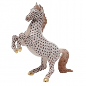 Herend Prancing Horse - Chocolate