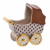 Herend Baby Carriage Chocolate