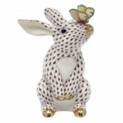 Herend Bunny w/ Butterfly Chocolate