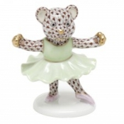 Herend Ballerina Bear Chocolate