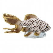 Herend Fantail Goldfish - Chocolate