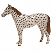 Herend Small Horse - Chocolate