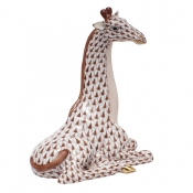 Herend Giraffe - Chocolate