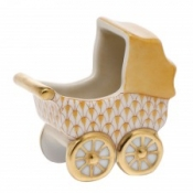 Herend Baby Carriage Butterscotch